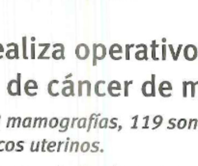 Operativo en Hospital Nuestra Sra. de Regla